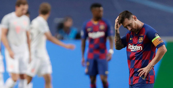 Barcelona brought to earth in 8-2 loss to Bayern Munich in Lisbon