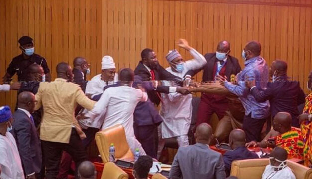 Ghanaian Member of Parliament Snatches ballot papers in Parliament