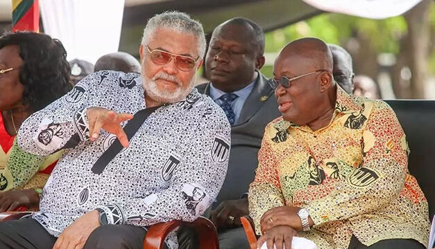 President Akufo-Addo pays tribute to JJ Rawlings